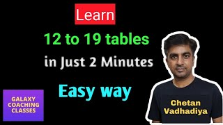 Learn tables in easy way ll 12 to 19 tables
