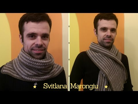 Tutorial Uncinetto : Sciarpa facilissima uomo/donna all'uncinetto - sciarpa unisex
