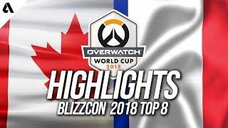 Team Canada vs Team France   Overwatch World Cup 2018 Quarterfinals Highlights