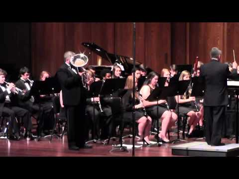 Live performance recording (euphonium and band) of Fantasie and Variations on The Carnival of Venice by J.B. Arban, Recorded in April 2013.