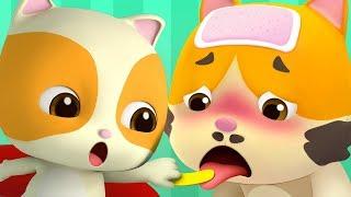 Daddy is Sick | Boo Boo Song | Doctor Cartoon | Kids Songs | Kids Cartoon | BabyBus