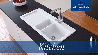 Installation surface-mounted kitchen sinks | Villeroy & Boch