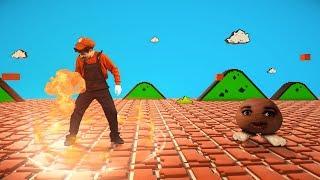 Super Mario Fireball vs Goomba