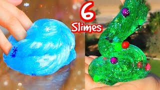 6 DIY Christmas Slimes! How To Holiday Slime!