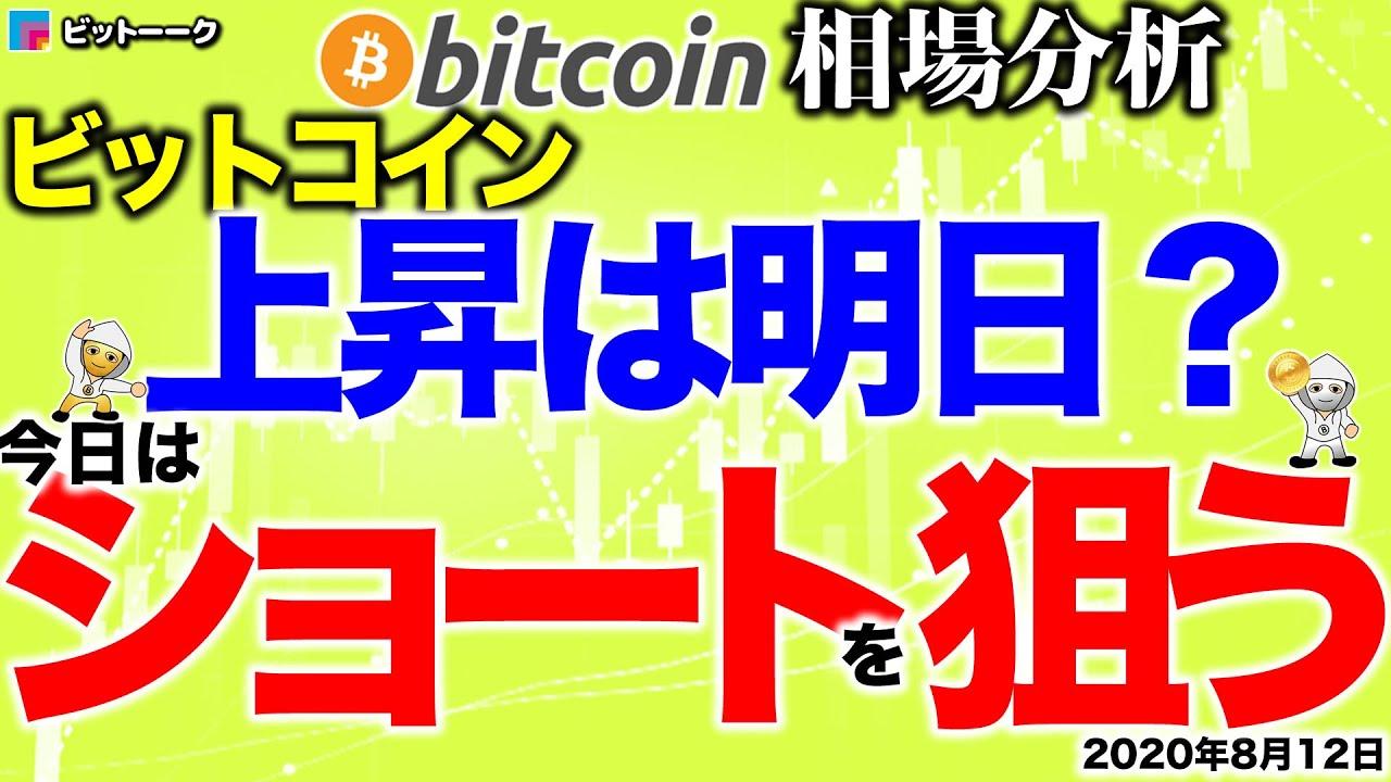【ビットコイン 仮想通貨】上昇は明日!?今日はタイミングよくショートを狙う!【2020年8月12日】BTC、ビットコイン、XRP、リップル、仮想通貨、暗号資産、爆上げ、暴落 #ビットコイン #BTC