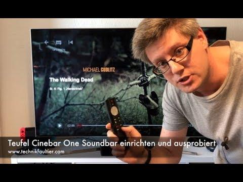 Teufel Cinebar One Soundbar einrichten und ausprobiert