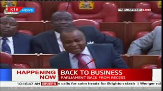 Parliament resumes as they discuss the EALA membership nomination notion