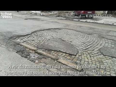 Krateri na uglu Šumadijske ulice i Ivana Milutinovića u Nišu