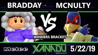 S@X 303 SSBM - bradday (Ice Climbers) Vs. McNutly (Falco) - Smash Melee Winners Round 2