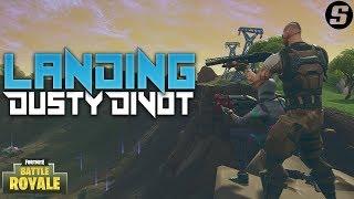 Landing Dusty Divot In Fortnite: Battle Royale