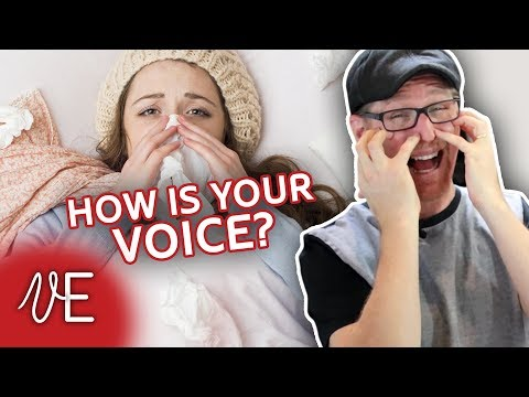 Video How to HEAL YOUR VOICE after a cold | Swollen Vocal Cord Test | #DrDan