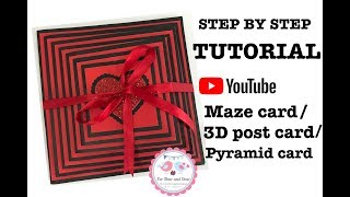 How To Make  Maze Card/ 3D Postcard / Pyramid Card/ Best Handmade Cards