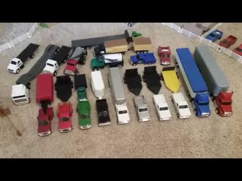 Massive 1/64 Ertl Trucks and Trailers Haul !!