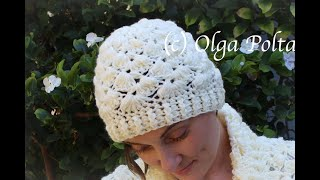 How To Crochet A Womens Beanie Hat, One Size Adult Hat Crochet Video Tutorial