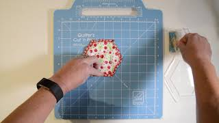 Machine Stitched Quilt As You Go Hexagon