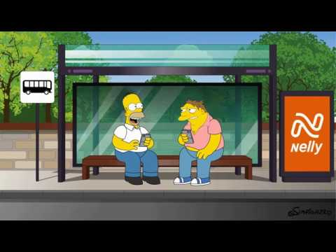 Simpsonized Nelly Rent Car