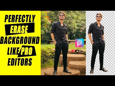 How to erase background of your pic perfectly  how 2 erase photo background in HD -KFaheem creations