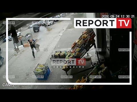 VIDEO ekskluzive, momenti kur Lefter Zhidro qëllon me kallash shitësin e fruta perimeve në Elbasan