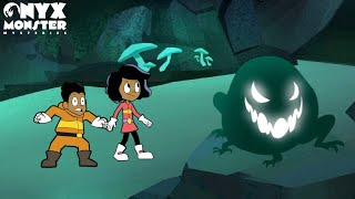 BEWARE OF THE CAVE MONSTER! Onyx Monster Mysteries Episode 6   Halloween Cartoon