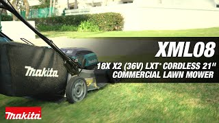 "MAKITA 18V X2 (36V) LXT® Brushless 21"" Self-Propelled Commercial Lawn Mower - Thumbnail"