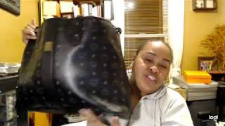 MCM LIZ REVERSIBLE BLACK TOTE: REQUESTED VIDEO FOR SUBBIE MommyFace