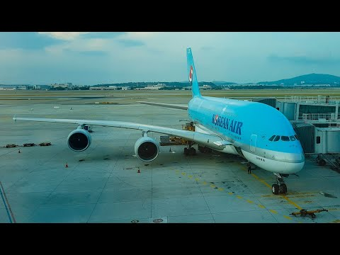 KOREAN AIR A380 Economy Class Review INCHEON to LAX (HL7614)