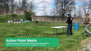 Action Pistol Match at Sandoval Range, Illinois - Shooter 12