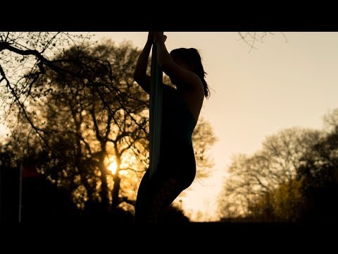 Aerial Adrenaline: Harper Doherty performs on aerial silks