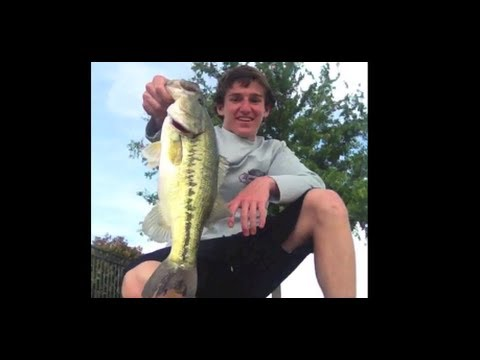 Drop Shot Bass Fishing A Local Pond- GoPro