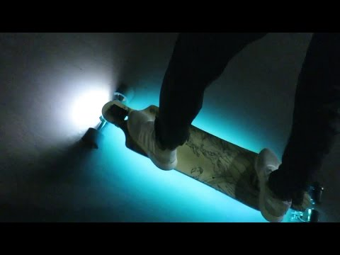$10 LEDs on an electric skateboard