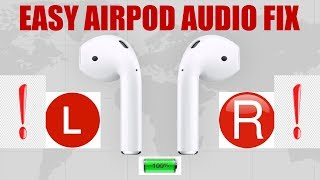 Airpod Audio FIX 1 Side Not Working