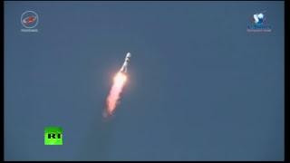 Запуск космического грузовика «Прогресс МС-07»