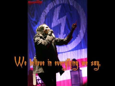 We're From America - Marilyn Manson [Lyrics, Video w/ pic.]