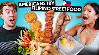 Trying Filipino Street Food For The First Time! (Balut, Kwek Kwek, Isaw, Lumpiang Ubod)