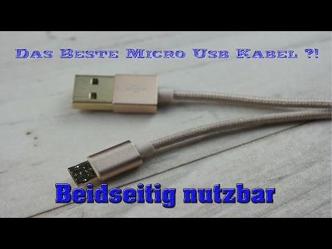 Das beste Micro USB Kabel!? Beidseitig nutzbar Deutsch