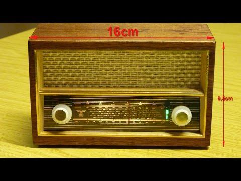 Röhrenradio im Miniformat (nur Deko-Objekt)