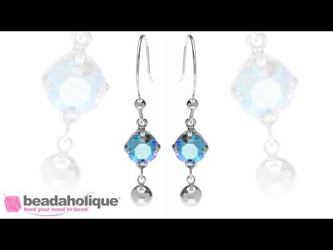 Quick Easy Elegant Wedding Jewelry Sterling Silver Drop Earrings Featuring Swarovski Crystals