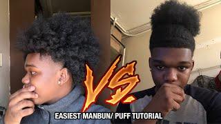 MANBUN/ PUFF Tutorial For Men (Short/Long Hair)