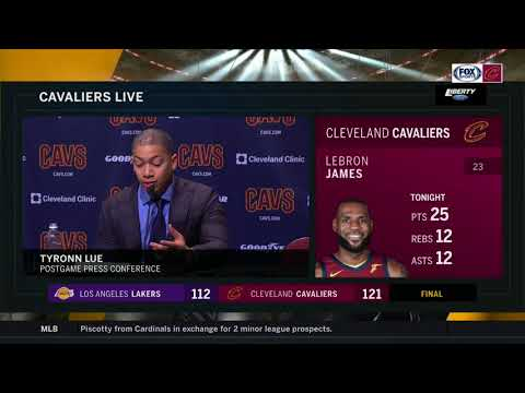 Ty Lue postgame comments on LeBron James' latest milestone, Lonzo Ball   CAVS-LAKERS