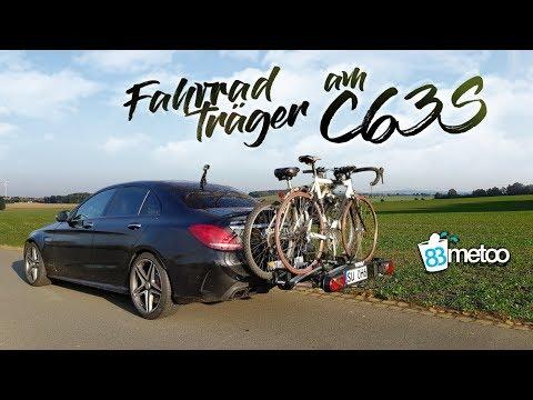 Fahrradträger im Test  C63S AMG mit Anhängerkupplung   Eufab Fahrradträger Premium 3 Test