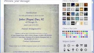 In Loving Memory Mail, LLC/Create Online Death Notice/Obituary - Enhanced Notice