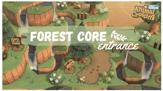 NATURAL FORESTCORE ENTRANCE 🌱 | Animal Crossing: New Horizons