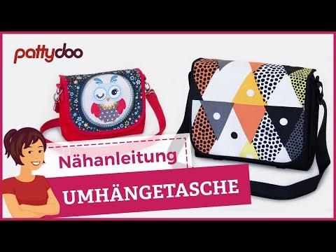Umhängetasche & Kindergartentasche nähen - pattydoo Nähanleitung