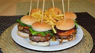 Mini Burgers With Caramelized Onion - Easy Beef & Pork Hamburger Recipe