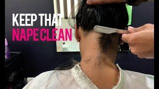 Keep that nape clean | Nape shave