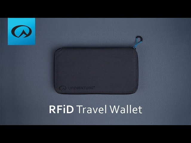 Видео Кошелек Lifeventure RFID Travel Wallet black