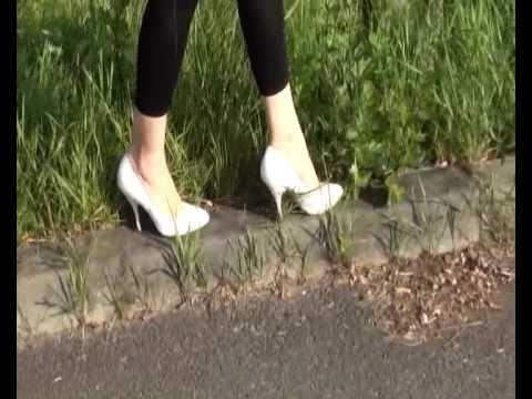weiße sexy High Heels