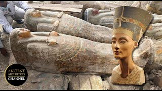 20 Unopened Ancient Egyptian Coffins Discovered & The Search For Nefertiti | Ancient Architects