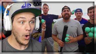 Blitzball Trick Shots 3 | Dude Perfect   Reaction