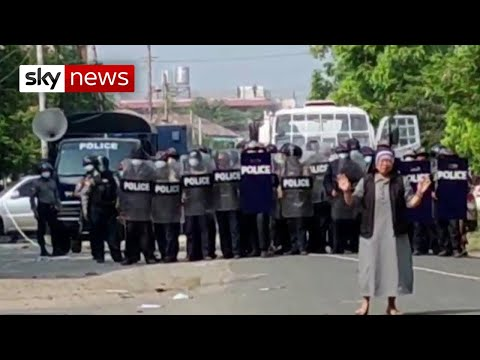 'I was prepared to die': Nun protects protesters in Myanmar's 'Tiananmen moment'